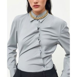 Zara Limited Edition Ruched Shirt